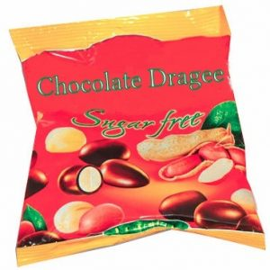 Sugar Free Chocolate Dragee With Peanuts - 80 g. Suitable For Diabetics Private Label | Wholesale | Bulk | Made In EU