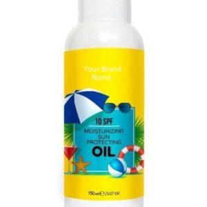 Sunscreen Moisturizing Oil 10 SPF 100% Natural Product | Private Label | Wholesale | Bulk | Custom Formula | Made in EU