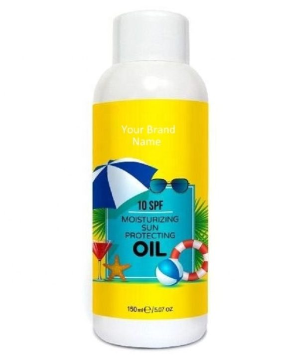 Sunscreen Moisturizing Oil 10 SPF 100% Natural Product | Private Label | Wholesale | Bulk | Custom Formula | Made in EU