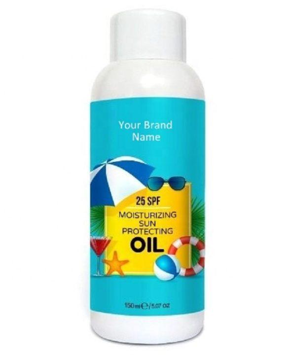 Sunscreen Moisturizing Oil 25 SPF 100% Natural Product  Private Label   Wholesale   Bulk   Custom Formula   Made in EU