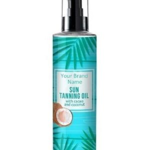 Tanning Oil With Cacao And Coconut 100% Natural Product | Private Label | Wholesale | Bulk | Custom Formula | Made In EU
