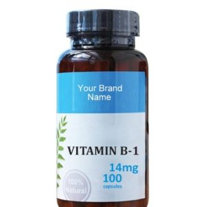 Thiamine ( Vitamin B1) Food Supplement Natural Private Label | Wholesale