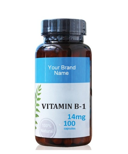 Thiamine ( Vitamin B1) Food Supplement Natural Private Label | Wholesale