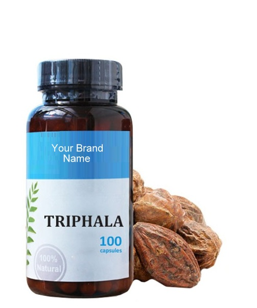 Triphala Food Supplement Natural Private Label | Wholesale