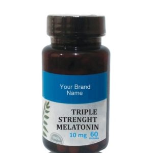Triple Strength Melatonin Food Supplement Natural Private Label | Wholesale