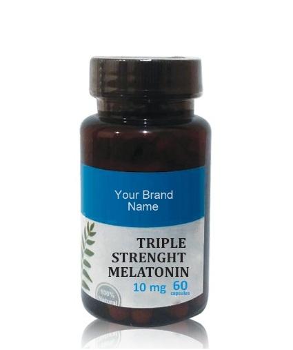 Triple Strength Melatonin Food Supplement Natural Private Label   Wholesale