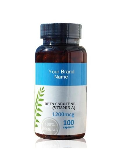 Vitamin A ( Beta Carotene ) Food Supplement Natural Private Label | Wholesale