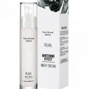 Whitening Black Spots Pearl Night Face Cream 100% Natural Product Private Label | Wholesale | Bulk Made In EU