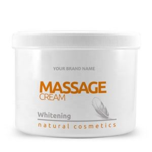 Whitening Massage Cream - 500 ml 100% Natural Private Label | Wholesale | Bulk | Made in EU