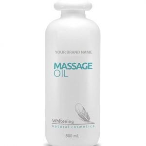 Whitening Massage Oil - 500 ml 100% Natural Private Label | Wholesale | Bulk | Made in EU