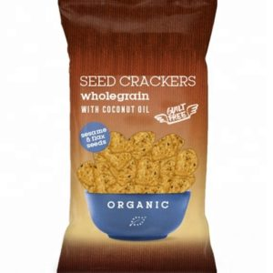 Wholegrain Baked Seed Crackers With Unscented Coconut Oil Vegan And Gluten Free Certified Organic | Wholesale | Made In EU