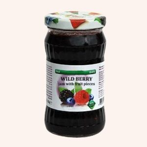 Wild Berry Jam With Fruit Pieces - 360 g. 40% Fruit Content Private Label | Wholesale | Bulk | Made In EU